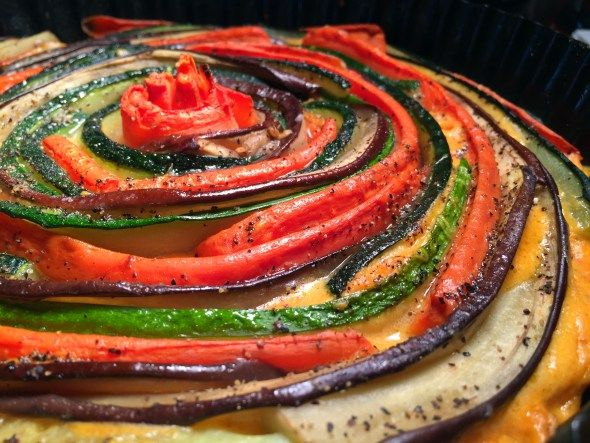Vegan Rustic Vegetable Spiral Tart