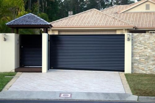 sliding driveway gates with pedestrian access google. Black Bedroom Furniture Sets. Home Design Ideas