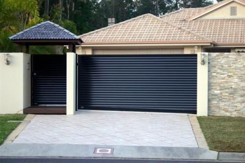 sliding driveway gates with pedestrian access google. Black Bedroom Furniture Sets. Home Design Ideas