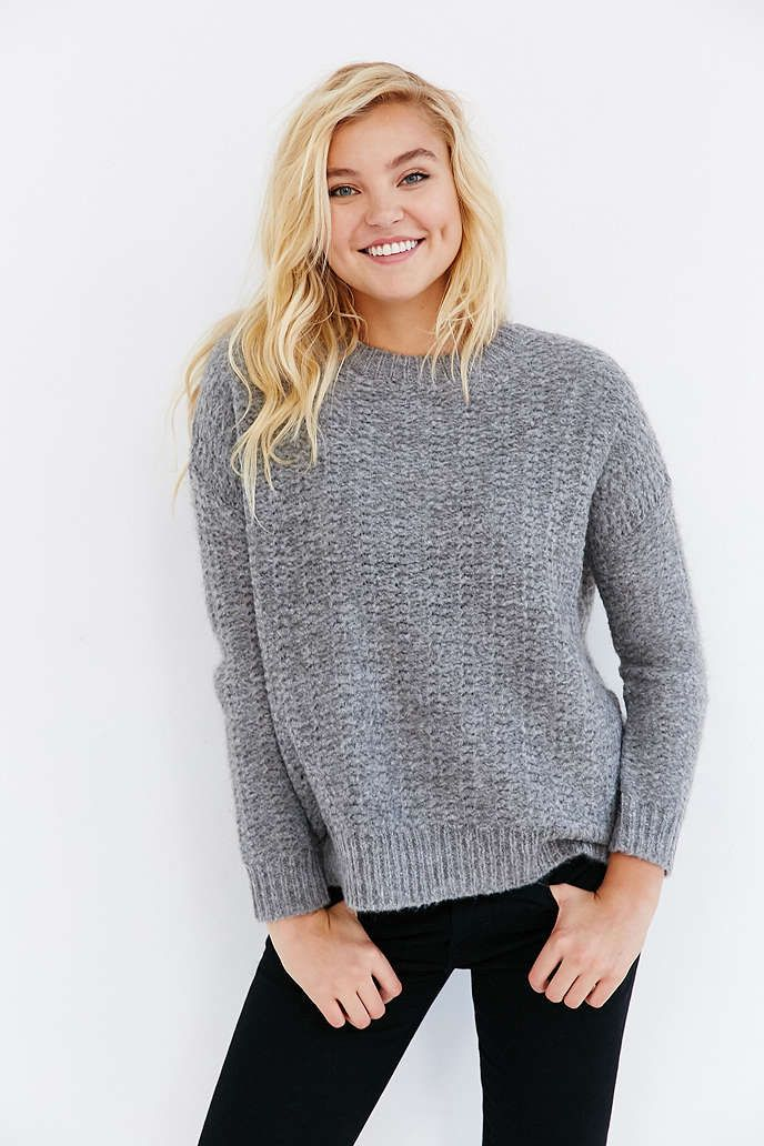 BDG Warm Me Up Pullover Sweater - Urban Outfitters: grey, small ...