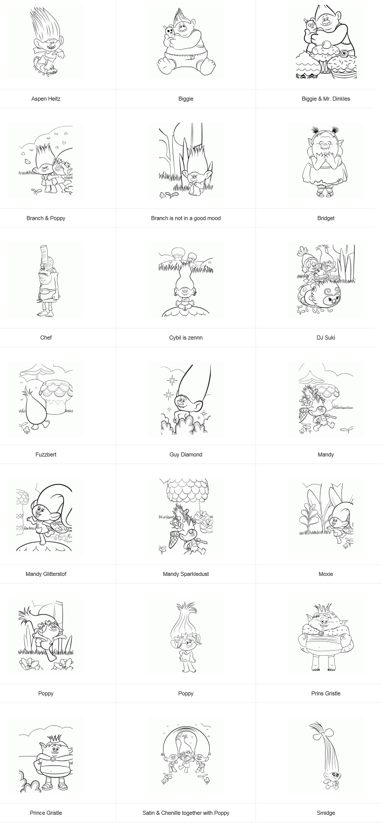 Trolls coloring pages branch - Coloring Pages Https Www Lygwela Com