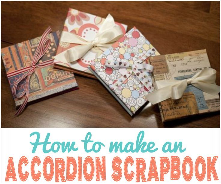 Accordion Scrapbook Tutorial Awesome Gifts Scrapbook And Tutorials