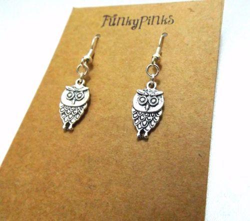 Owl Earrings - Owl Earrings, Owl Jewellery, Owl Jewelry, Owl Charm Earrings, Woodland Animal Earrings