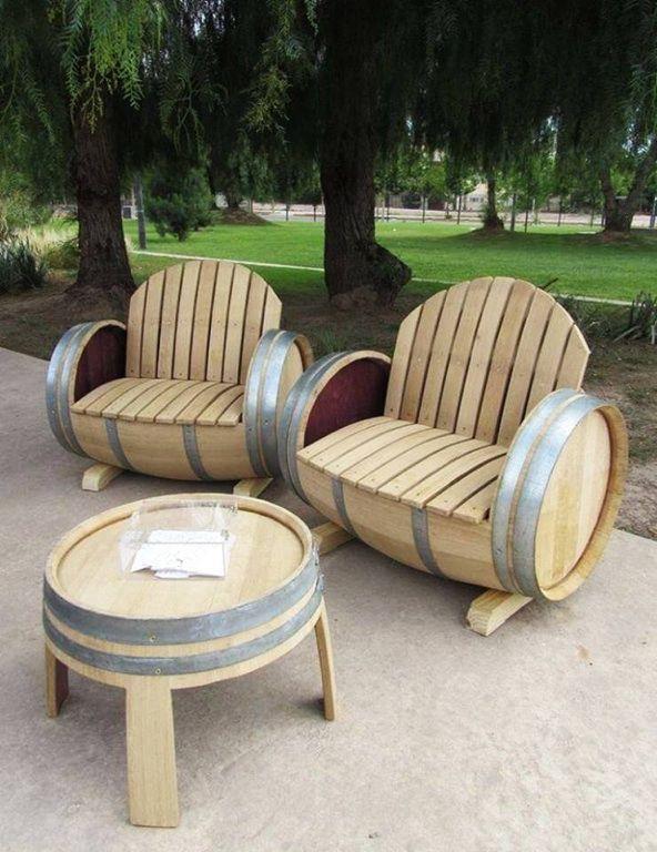 Booze Barrel Patio Furniture Redneck Crafts