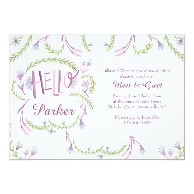 Hello Baby Meet and Greet Invitation | Zazzle.com | Custom ...