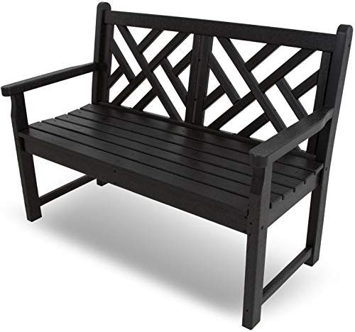 Super New Polywood Cdb48Bl Chippendale 48 Bench Black Online Squirreltailoven Fun Painted Chair Ideas Images Squirreltailovenorg