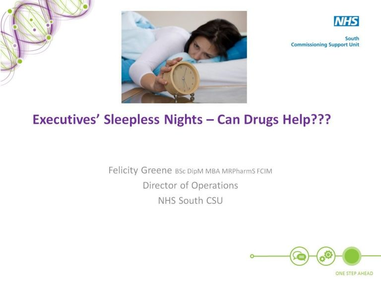 Executive's Sleepless NIghts - Can Drugs Help? by PM Society
