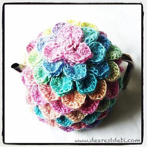 Crocodile Crochet Tea Cozy Pattern By Debi Dearest Tea Cozy