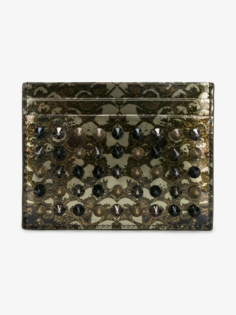 1ec13c6b79c8 CHRISTIAN LOUBOUTIN | Kios Card Holder | $363.53 | This green Christian  Louboutin 'Kios'