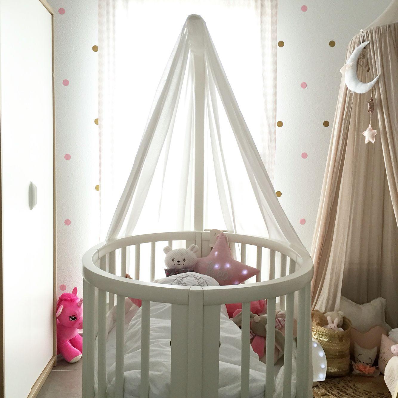 @boho_addict - Baby Girl Nursery - Stokke Sleepi Crib - Numero 74 Canopy