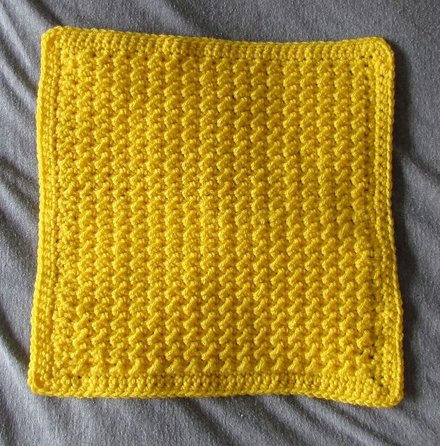 Crocheted Version of the Knitted Moss Stitch - I will use as a ...