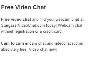 Webcam chat without registration