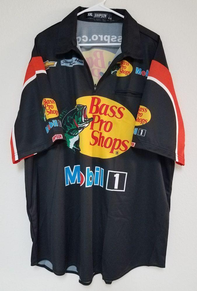f6f95cd63c18 NASCAR BASS PRO SHOPS Crew Shirt Stewart Haas Racing XXL Mobil 1 ...