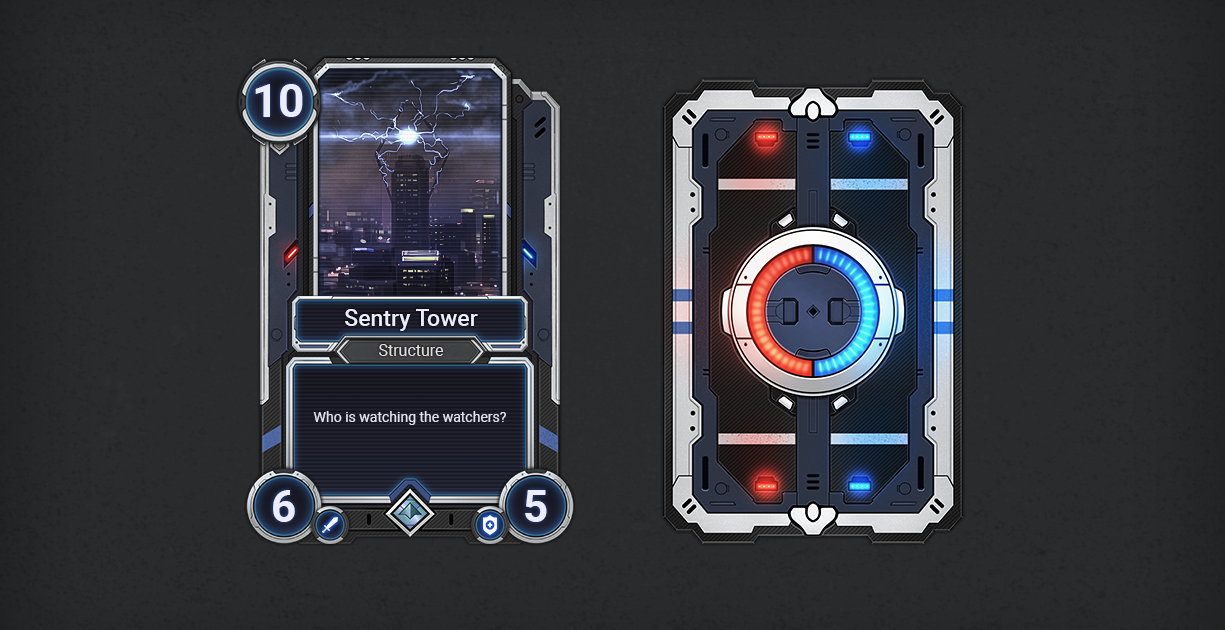 Futuristic Card Template Delta 2d Icons Unity Asset Store Game Card Design Space Games Card Template