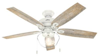 Crown Canyon Outdoor With Led Light 52 Inch Ceiling Fan White Ceiling Fan Ceiling Fan Light Kit