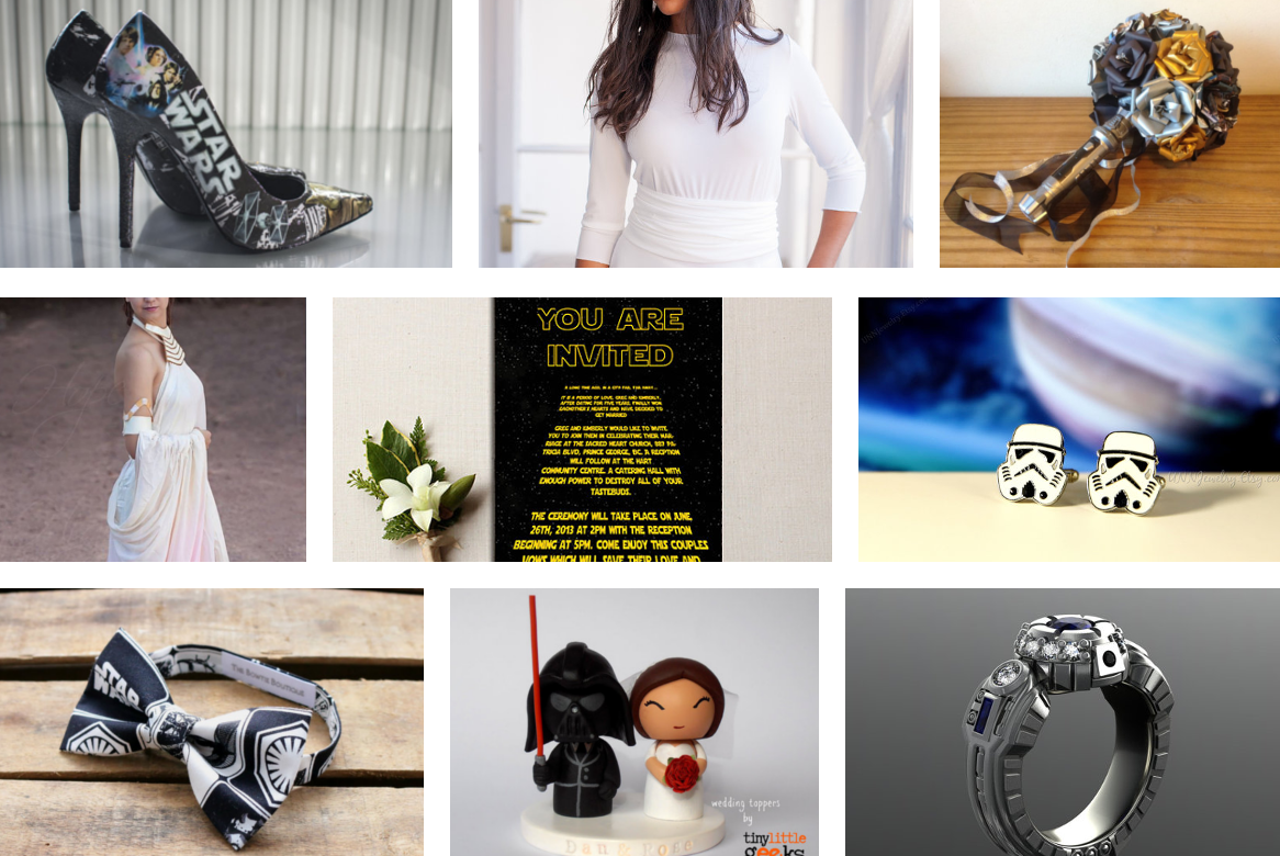 Star Wars wedding theme - top 9 theme ideas | Geeky Wedding Ideas ...