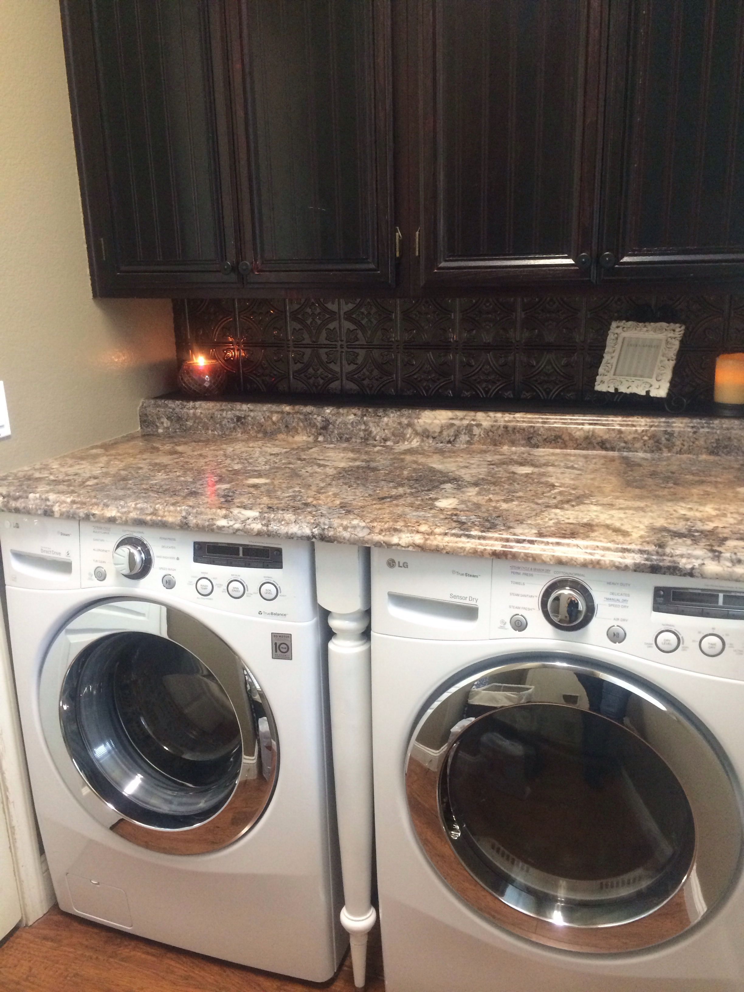 Laundry Room Remodel Added The Backsplash And Counter Top Used A