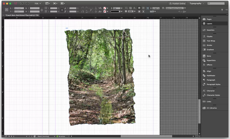 Creating A Torn Paper Frame Effect In Indesign A Lesson Learned Paper Frames Torn Paper Indesign
