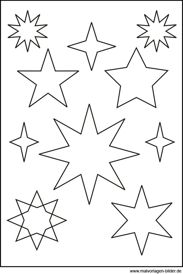 Sternen Vorlage 376 Malvorlage Stern Ausmalbilder Kostenlos, Sternen ...