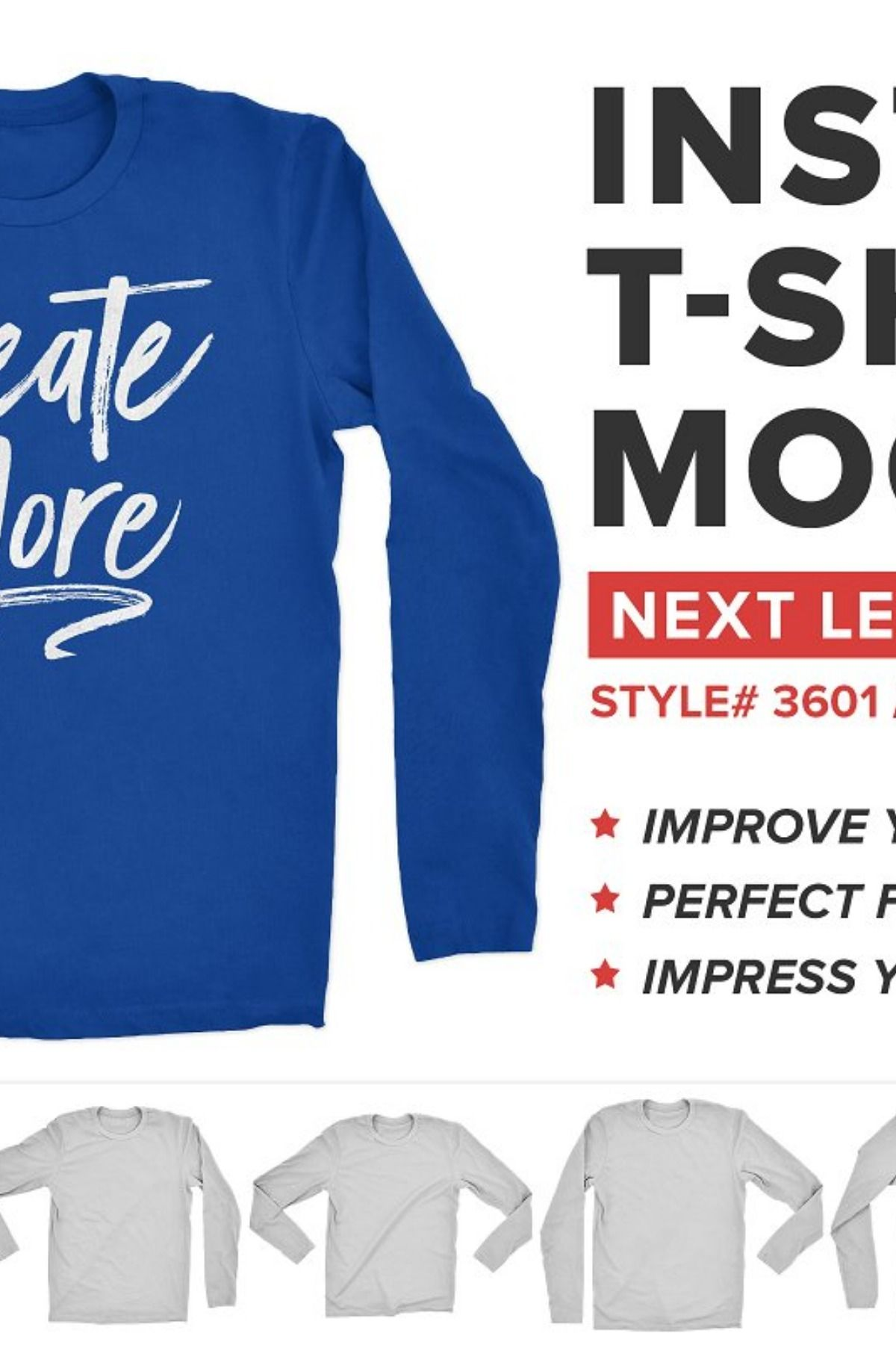 Download Next Level Long Sleeve Shirt Mockup Shirt Mockup Long Sleeve Shirts Shirt Wrinkles