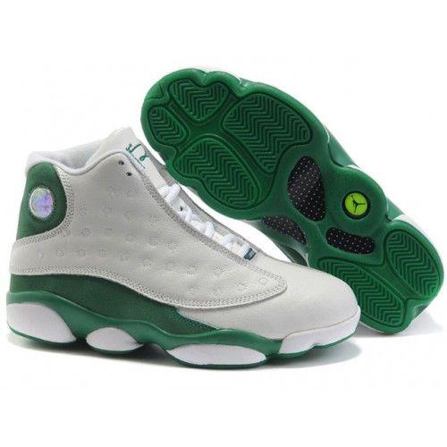 the best attitude ddda8 a2b22 Air Jordan Retro 13 Womens Shoes White Green | Sneaker Freak ...