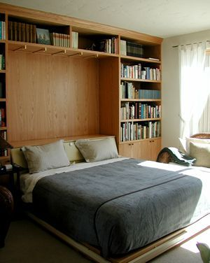 King sized murphy bed with wall to wall storage Home Sweet Home