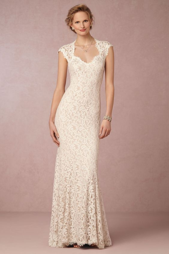 Can\'t Afford It? Get Over It! A Fit and Flare Gown with Keyhole Back ...
