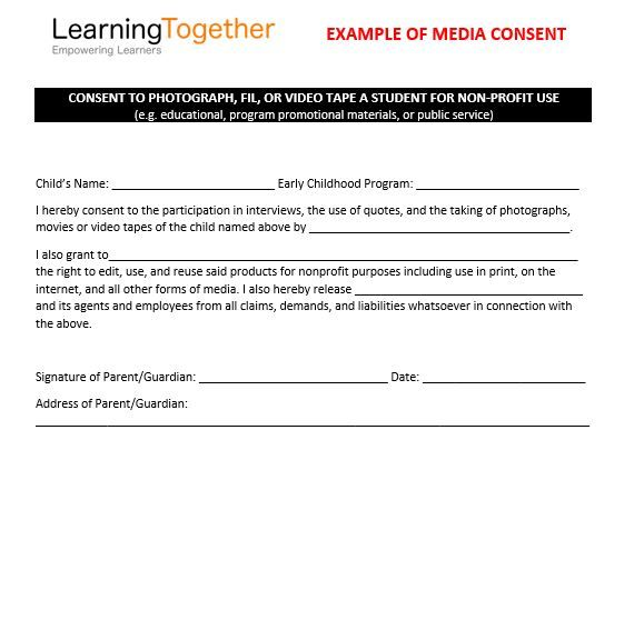 Media Consent Example Engaging Families in the Digital Age - video consent form