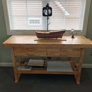 60 In 4 Drawer Hardwood Workbench In 2020 Workbench Furniture Wood Blocks