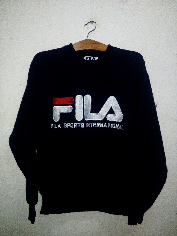 Vtg 90s fila sport biglogo spellout shirt ! sdJcPX0