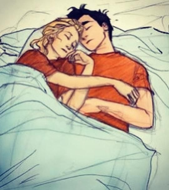 Percy and Annabeth cuddled together  | Percy Jackson | Percy jackson