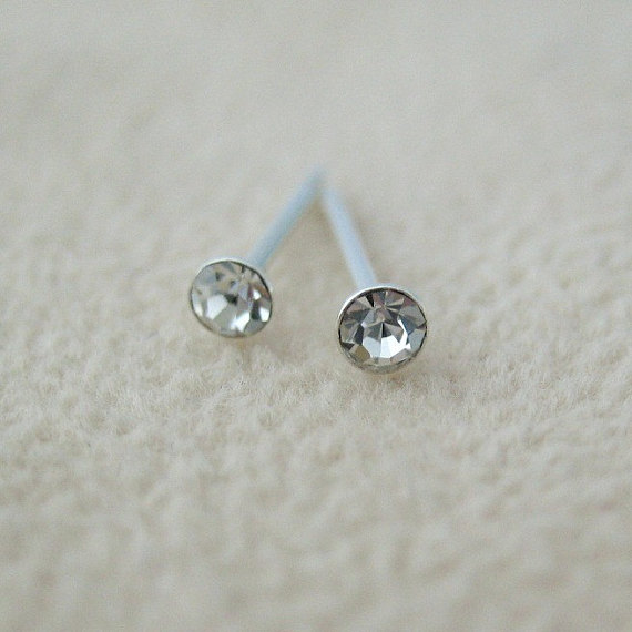 Clarion Cz Diamond Stud Tiny Earrings Men S Second Hole C