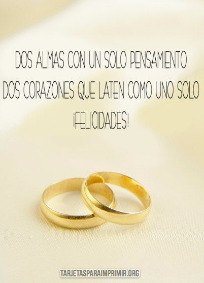 tarjetas de boda para imprimir con anillos   Aniversario de bodas ...