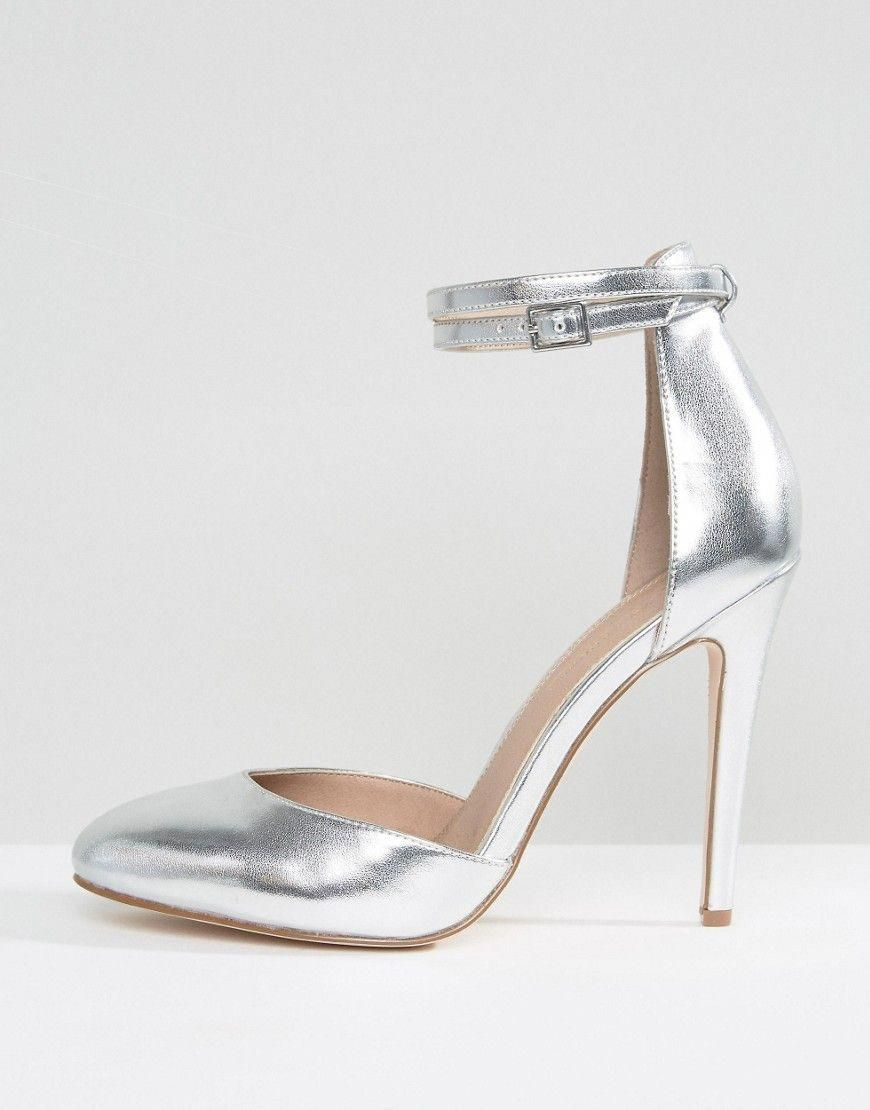 d3ed6470d82 ASOS PLAYDATE Wide Fit High Heels - Silver #Promshoes | Prom shoes ...
