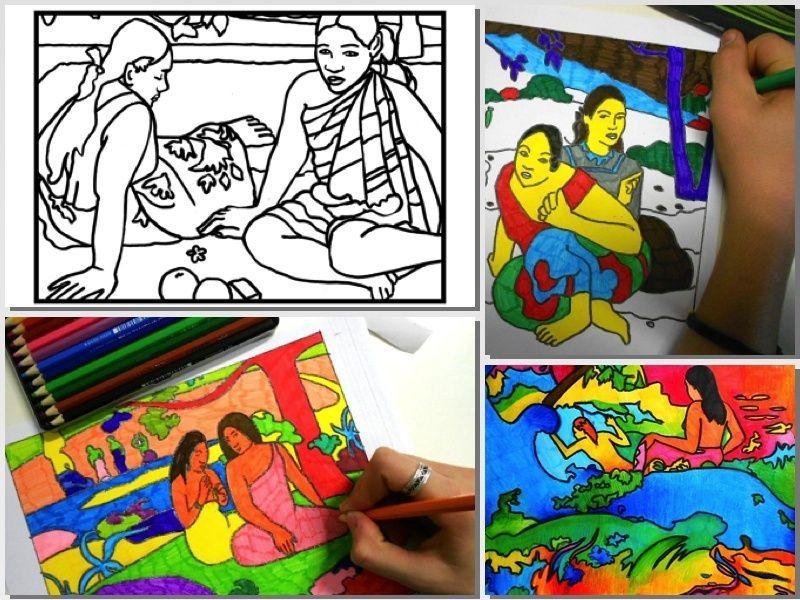 Gauguin 5 fogli di lavoro stampabili pdf - Caduta fogli di colore stampabili ...