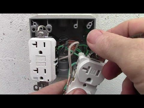 jeffrey howarth shared a video | gfci, outlet, outlet wiring  pinterest