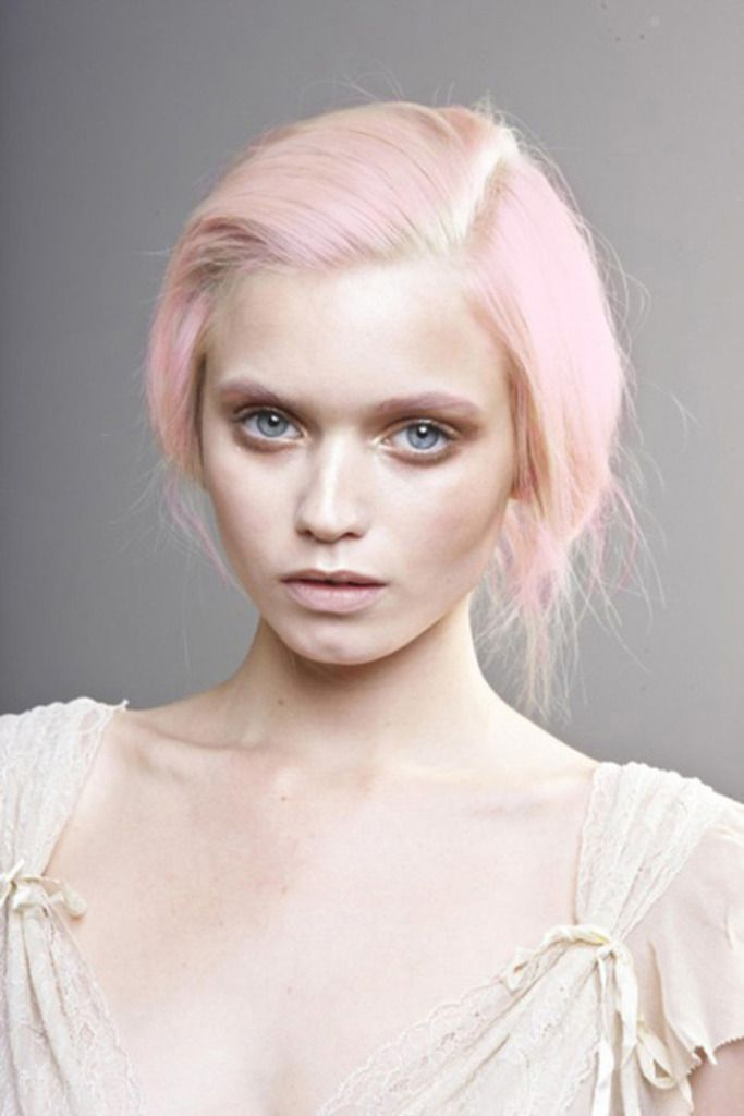pastel pink hair. Don't even like pink, but I am really liking it as a hair…