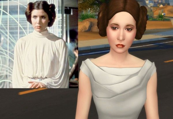 Mod The Sims: Carrie Fisher as Princess Leia Organa by Snowhaze • Sims 4 Downloads