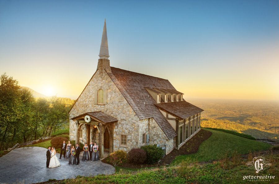Epic Photo Of The Ciffs At Gly Chapel Wedding Photography Greenville South Carolina