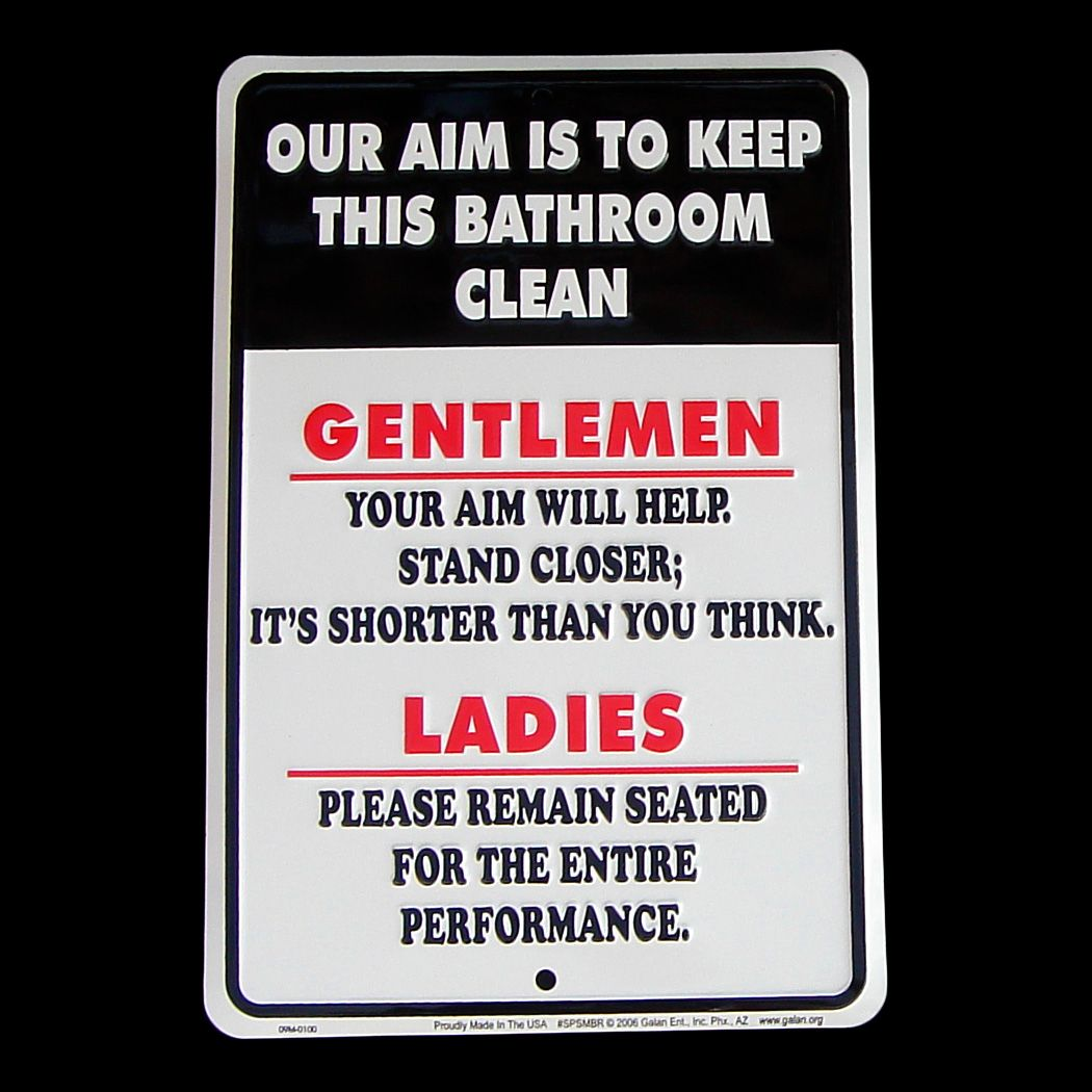 Bathroom signs to keep clean ideas pinterest for How to keep a toilet clean
