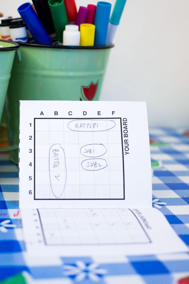 Free Printable Paper Battleship Game quiet books Pinterest