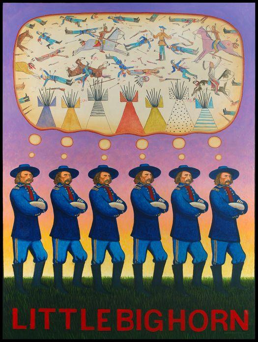 The Wonderful Ironic Post Modern Art Of Chippewa Artist David Bradley Native American Art Native American Artists Indian Artist