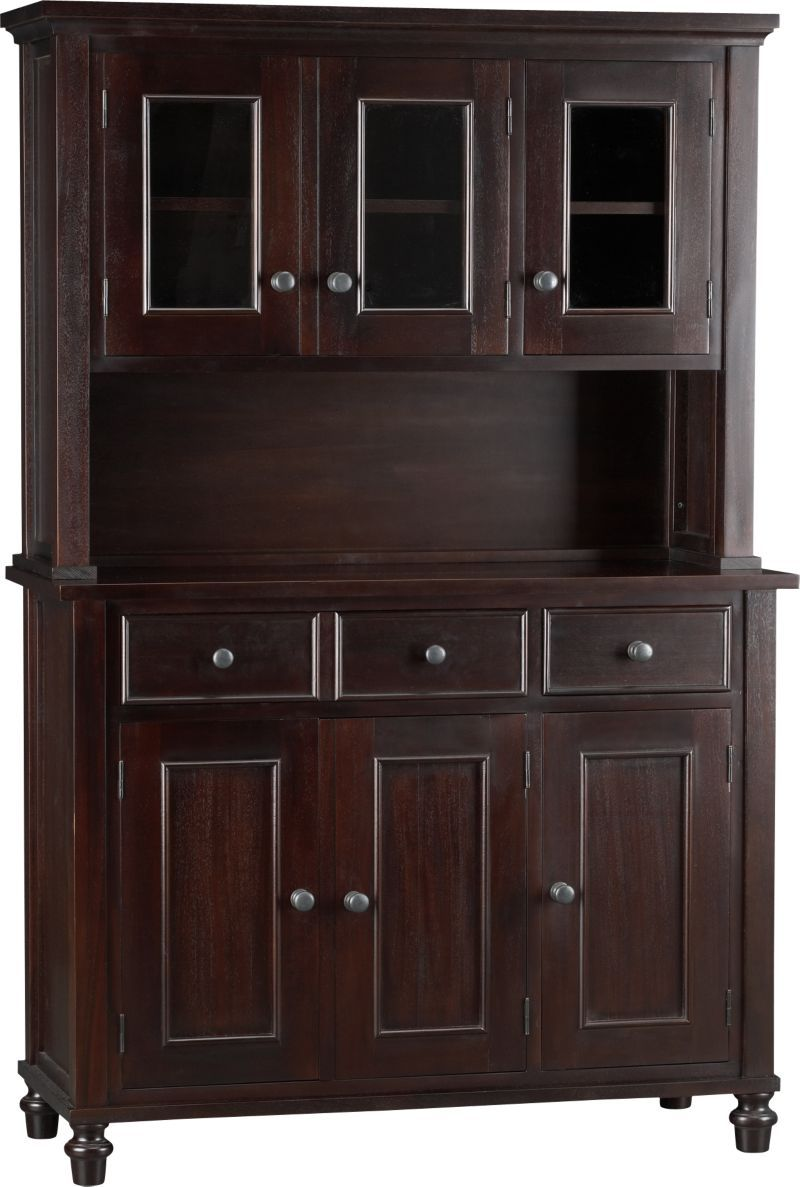 Kipling Mahogany Buffet With Hutch Top In Dining Kitchen Storage Crate And Barrel
