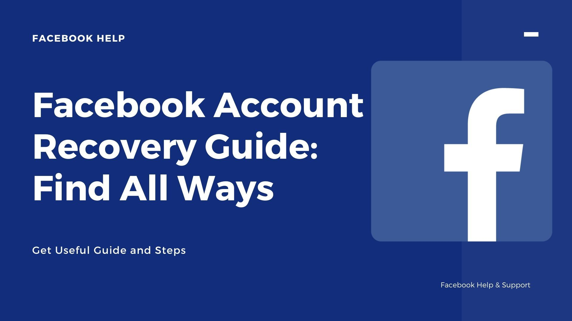 Get To Know About How To Recover The Facebook Account Know All