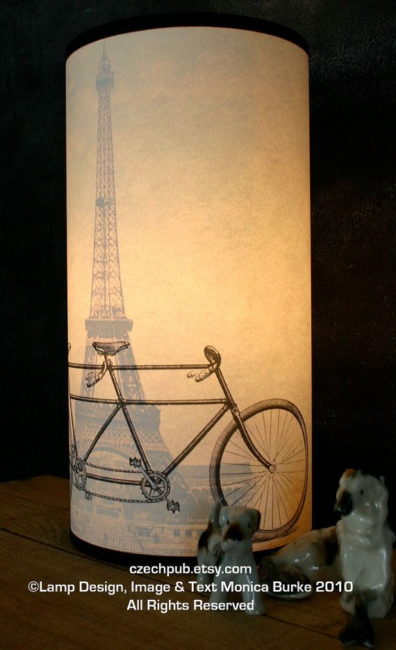 Vintage Paris France Map Table Lamp French Love By Czechpub With Images Paris Decor Lamp Diy Lamp Shade