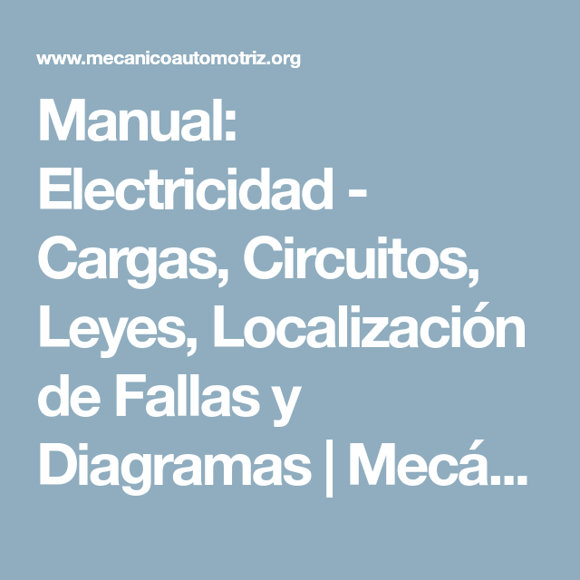 Manual  Electricidad