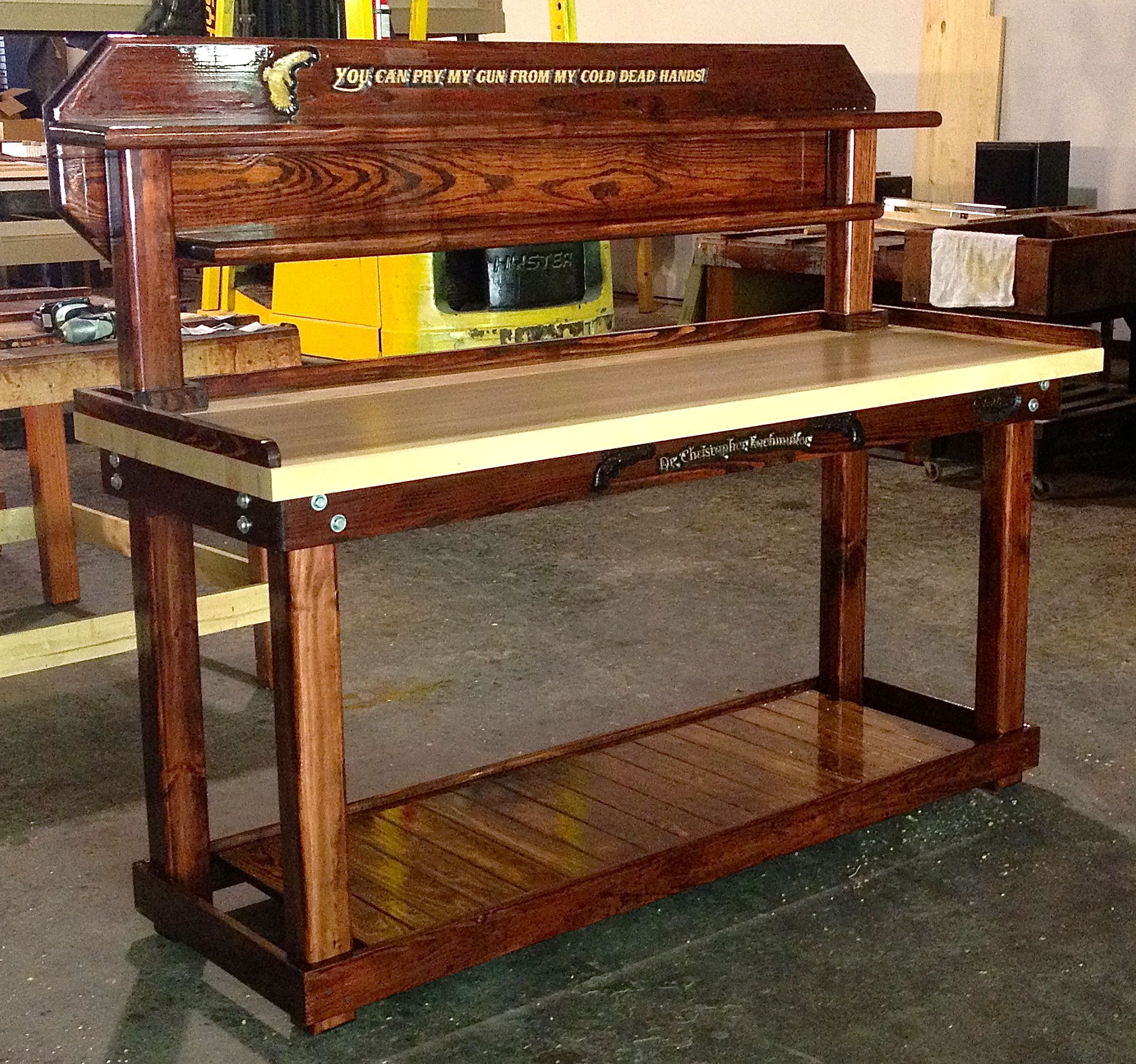 Wow A mahogany reloading bench WEAPONS Pinterest