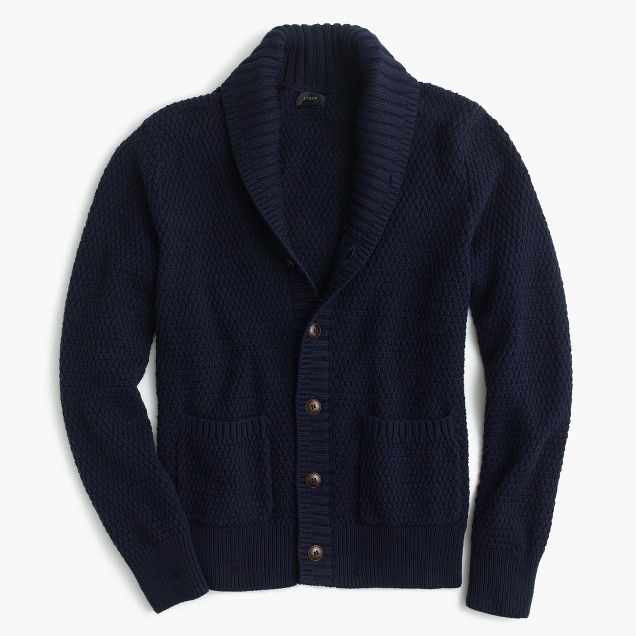 Cotton cardigan sweater in navy | Cotton cardigan, Cardigans and ...