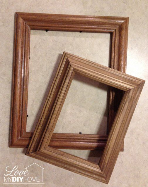 She places one chunky picture frame on top of another. The reason ...