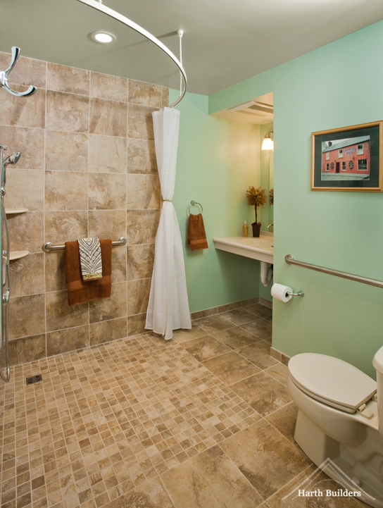 Accessible shower room image harth builders cool for Handicapped bathroom design